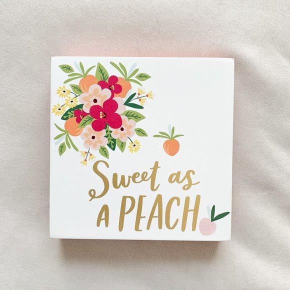 Sweet as a Peach Decor Art